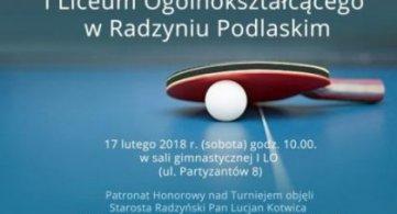 Turniej Tenisa Stołowego dla Absolwentów I LO