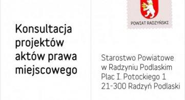 Konsultacja projektu rocznego programu współpracy Powiatu Radzyńskiego z NGO