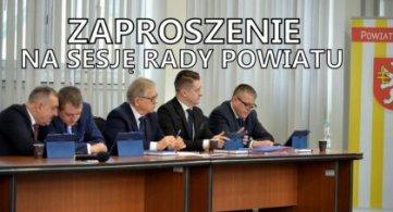 Zaproszenie na XXIX sesję Rady Powiatu w trybie zdalnym - 28.01.2021